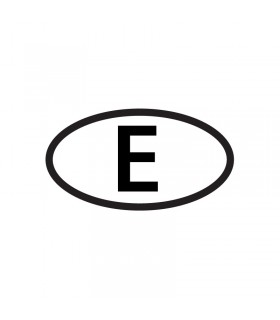 "Adhesivo ovalo ""E"""
